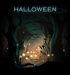 Halloween design template background