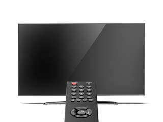 remote control and the TV screen