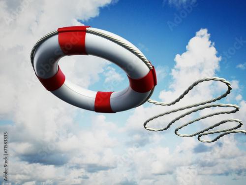 Leinwandbild Motiv Life belt in the air