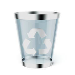 Glass  recycle trash can