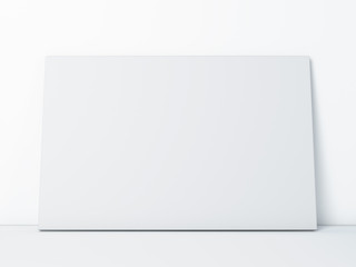 blank paper frame on white