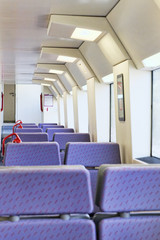 Interior of the high-speed train.