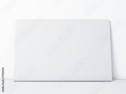 Foto op Plexiglas Wand blank paper frame on white