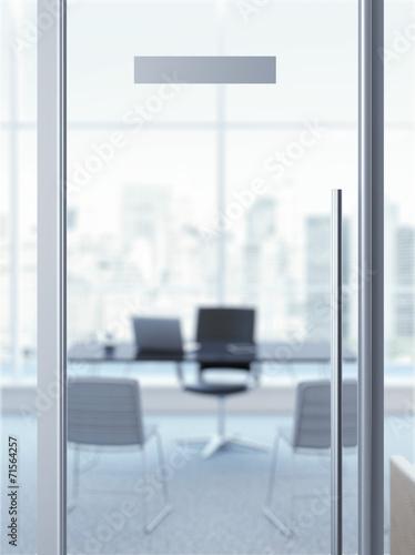 office door with nameplate - 71564257