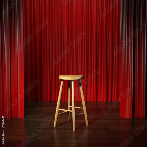 Foto op Plexiglas Theater stool on a stage