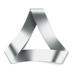 metal ribbon in shape of triangle