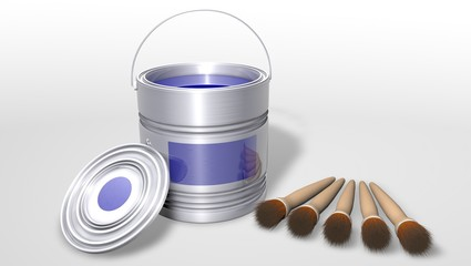 Colorful Cans - 3D