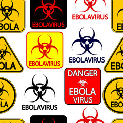 Ebola danger signs seamless pattern