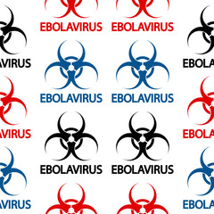 Ebola danger signs seamless pattern