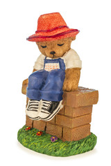 Figure of a bear with hat