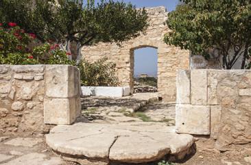 Exit from monastery of St. John Theologus, Aptera, Crete