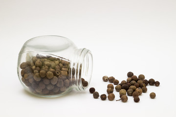 Allspice on the white background