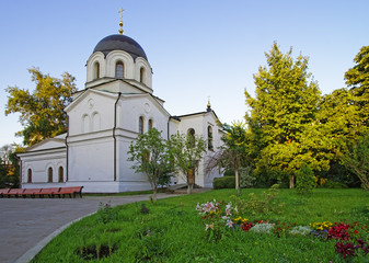 Chapel in graveyard in Conception convent in Moscow