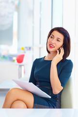 elegant business woman talking on the phone