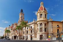 "Постер, картина, фотообои ""Cityscape historical places of Valencia - city in Spain."""