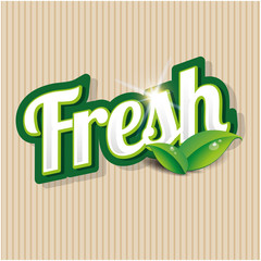Fresh product - vector label
