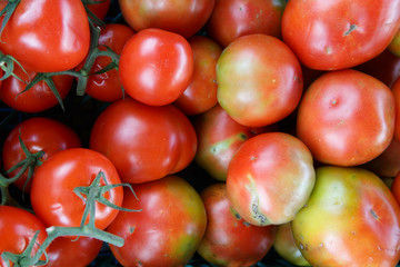 tomato close up picture from market