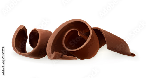 Chocolate shavings, vector illustration - 71567279