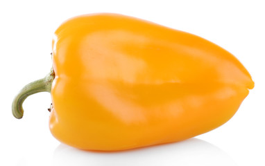 Yellow pepper isolated on white