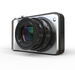 Small camera on white background