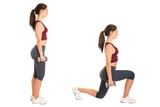 Fototapety Woman Doing Lunges