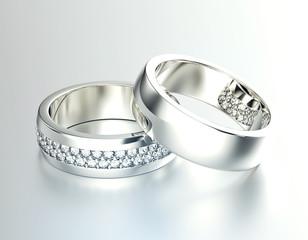 Weddingt Ring  with Diamond. Fashion Jewelry background
