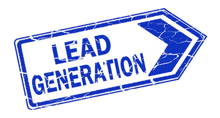 lead generaton stamp on white background