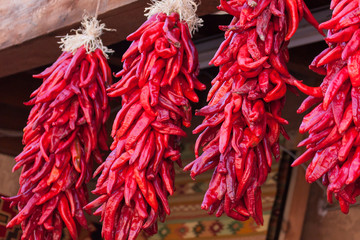 Hanging Red Chile Peppers