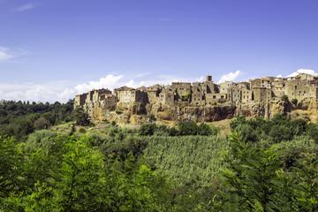 Pitigliano, Tuscany, panorama. Color image