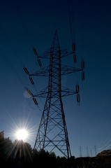 Hydroelectricity Tower with Sun