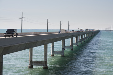 Seven Mile Bridge in Florida Keys, USA