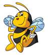 Obrazy na płótnie, fototapety, zdjęcia, fotoobrazy drukowane : Bee Funny Cartoon