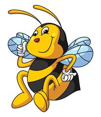 Bee Funny Cartoon