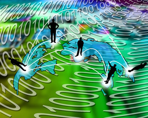 transcontinental transmission of data