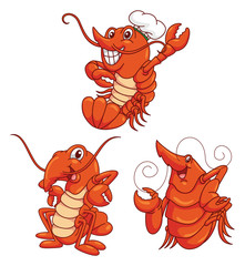 Lobster Funny Cartoon