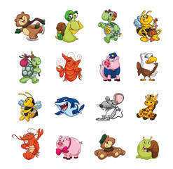 Big Set Cute Animal Collection