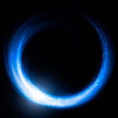 Blue glowing ring