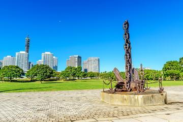 Landscape park prospects the Yokohama buildings of landmark