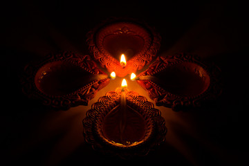 Beautiful Diwali Candels