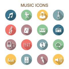music long shadow icons