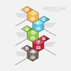 Cartoon Cube Infographic