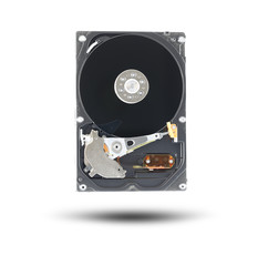 Black Hard disk isolated.