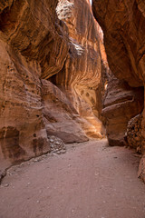 canyon Petra, Jordan,