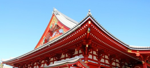 Asakusa temple in Japan