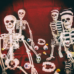Classic Skeletons Halloween Retro