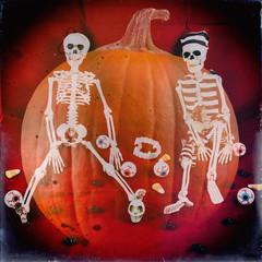Classic Skeletons Halloween Retro 2