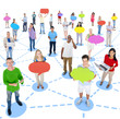 Group of People with Social Networking