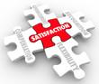 Job Satisfaction Puzzle Pieces Compensation Recognition Advancem