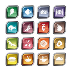 Food, Fruits and Vegetables Icons