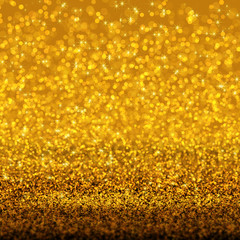 gold glitter and bokeh background